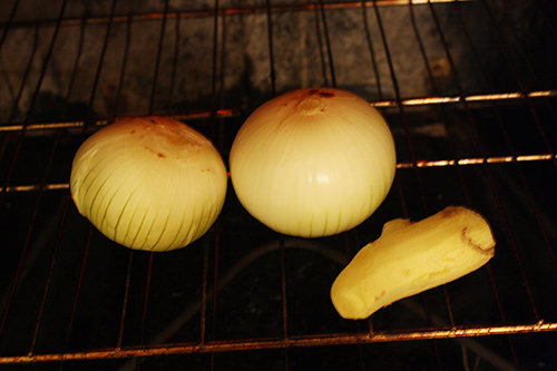 Char Onions and Garlic for Chicken Pho Recipe