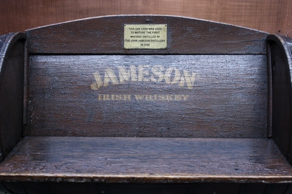 Jameson bench - Dublin Distillery
