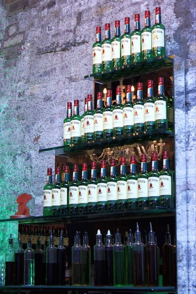 Jameson whiskey bottles stacked up