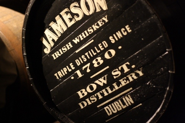 Old Jameson Whiskey Barrel Label