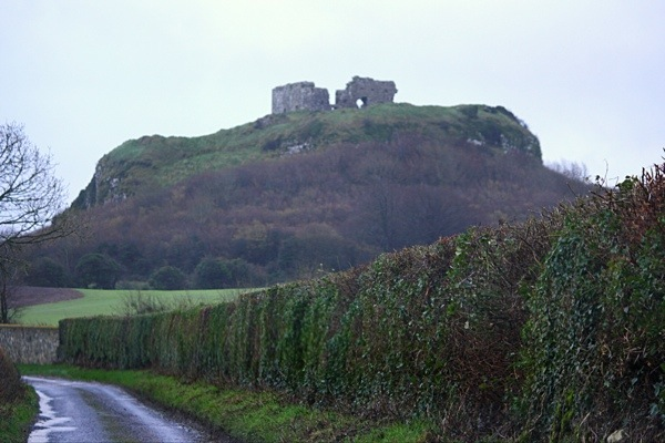 Road to Dunamase Castle Ruins