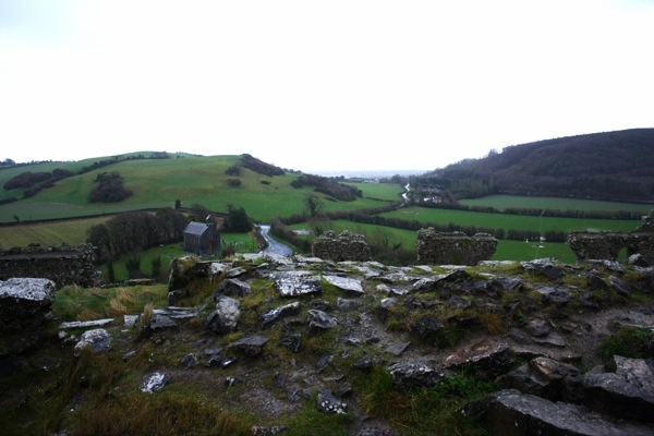 View from the top of the Rock of Dunamase Castle