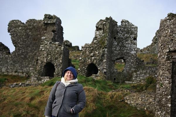 Visiting the Rock of Dunamase