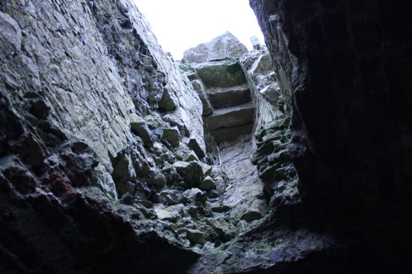 Stairs at the Rock of Dunamase