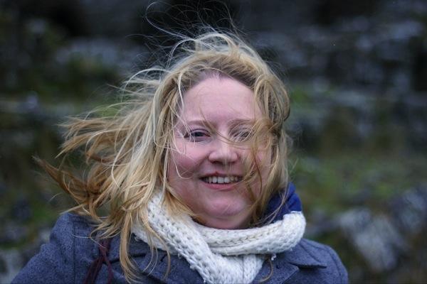 Nicole at the Rock of Dunamase