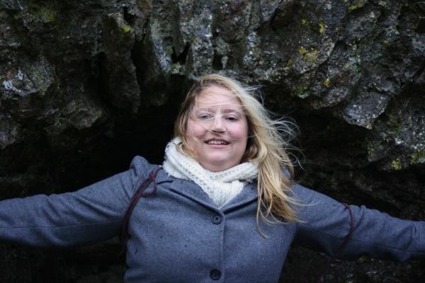 Nicole at Dunamase Castle