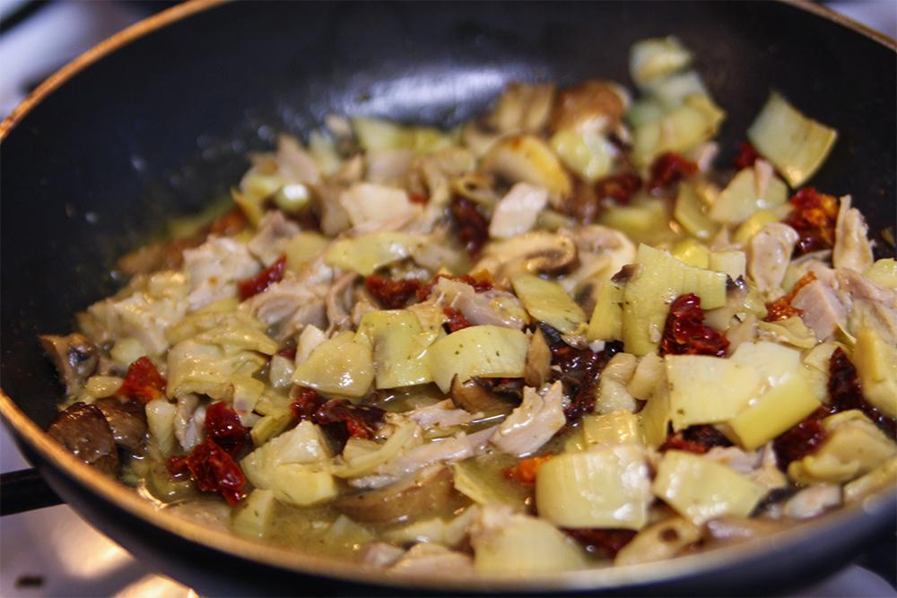 Leftover Chicken Recipe with Lemon Garlic Sauce