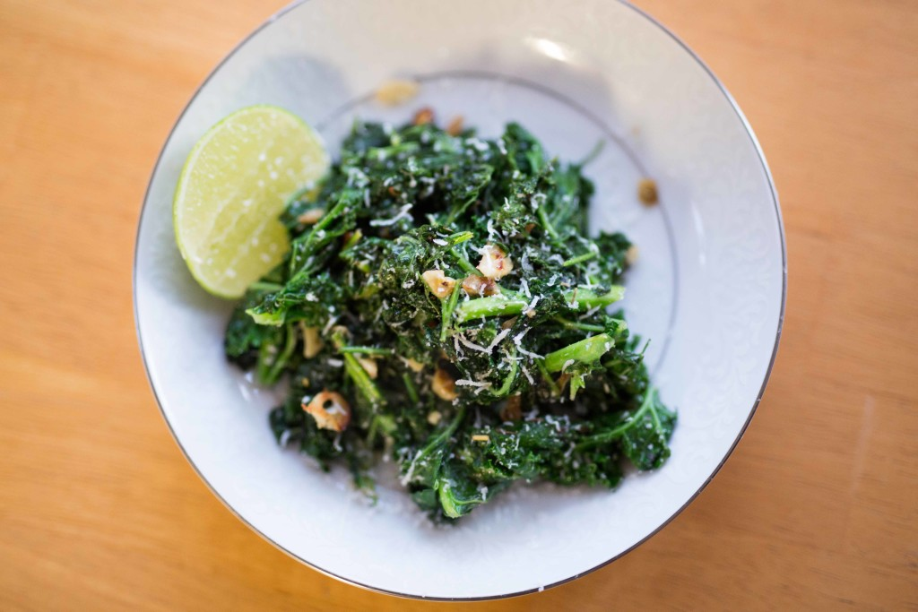 Garlic Sautéed Kale with Carrot Greens Recipe