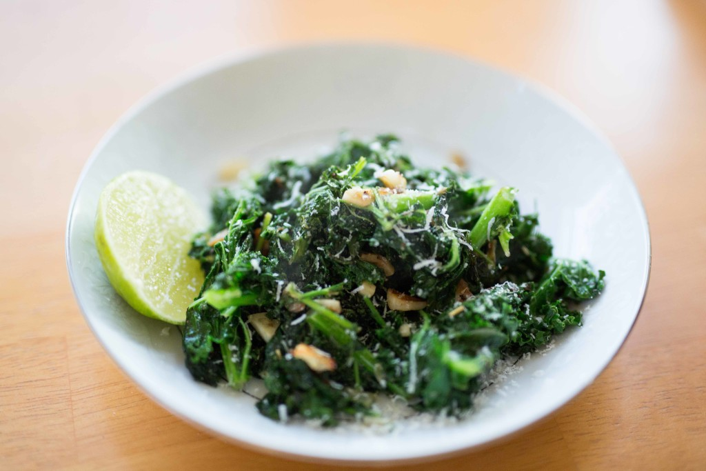 Recipe Garlic Sautéed Kale with Carrot Greens