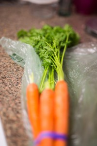 Carrots with Tops Attached