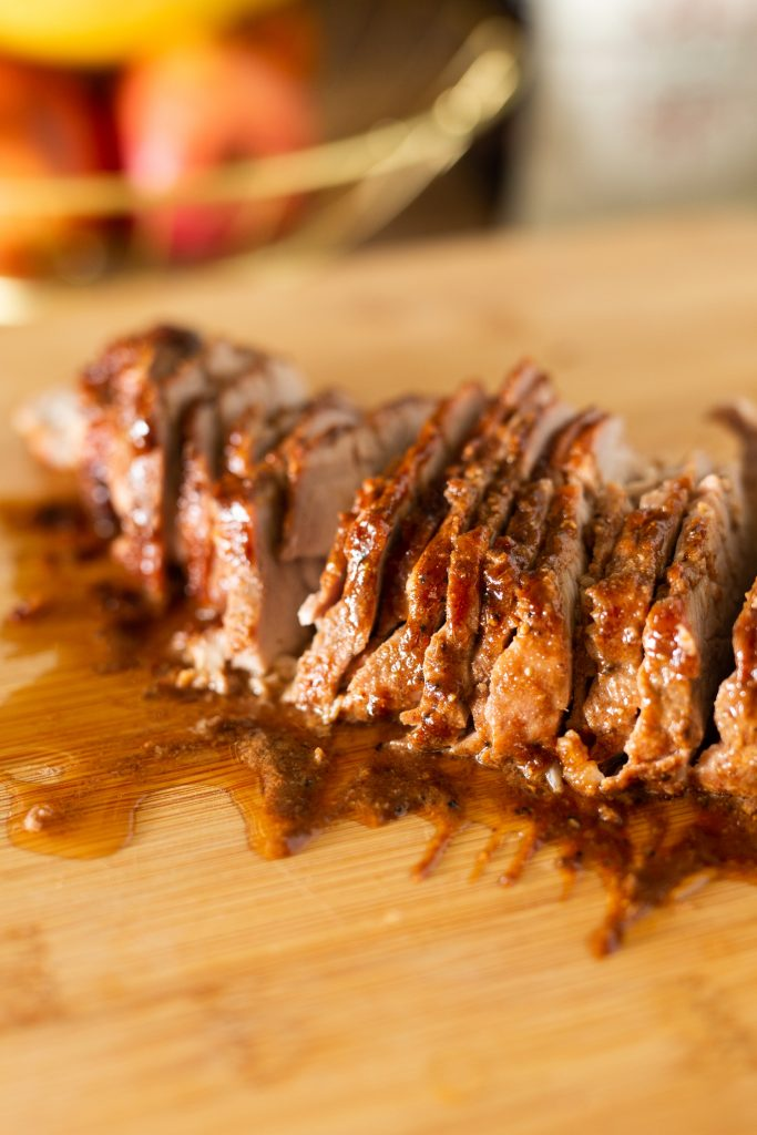 Oven Roasted Char Siu Chinese BBQ Pork Recipe using Pork Tenderloin