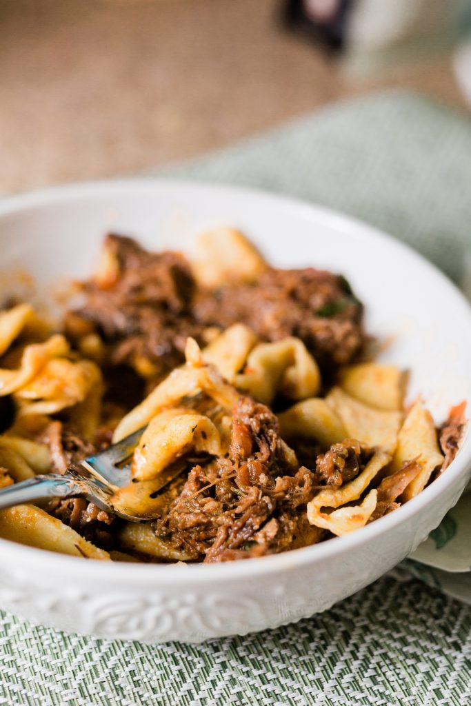 Instant Pot Beef Ragu Recipe with Pasta