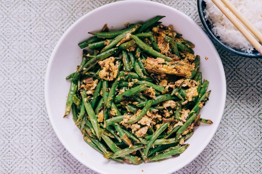 Vietnamese Stir-Fried Green Beans with Eggs