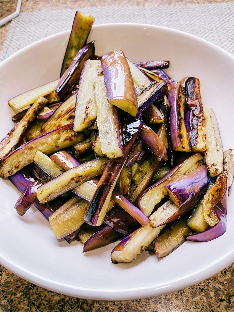 Stir Fried eggplant