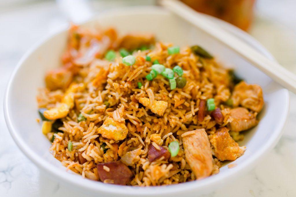 Korean Chicken Fried Rice Recipe