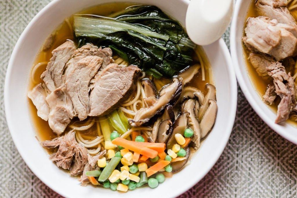 Weekend Shoyu Ramen with Homemade Pork Broth